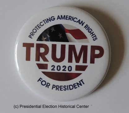 Protecting American Rights (Tan) - Trump 2020 Campaign Button
