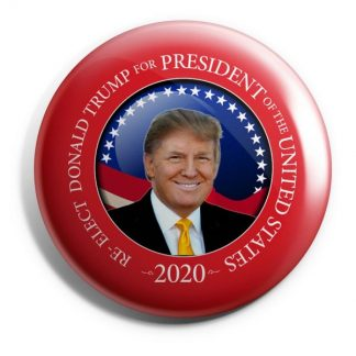 Donald Trump 2020 Campaign Button – Red