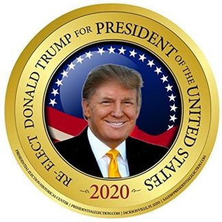 Re-Elect Donald Trump for President Gold 2020 Campaign Button (TRUMP-701)