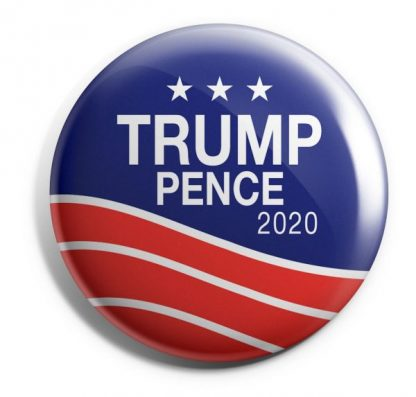 Trump Pence 2020 - Red, White & Blue Campaign Button