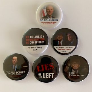 Trump 2020 - No Collusion, No Obstruction, No Conspiracy - Set of 6 Buttons
