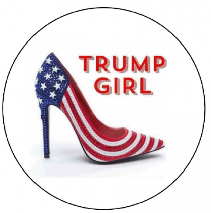 Trump Girl button image