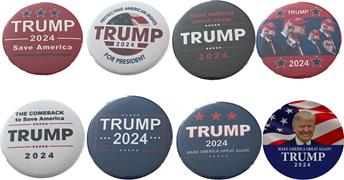 Trump 2024 set of 8 buttons__Trump 2024 buttons