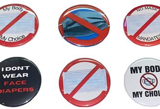 No Mask Mandates buttons