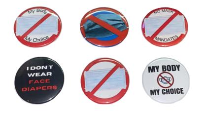 No Mask Mandates - Anti-mask buttons